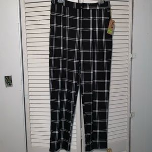 Forever 21 Black & White Pleated Trousers